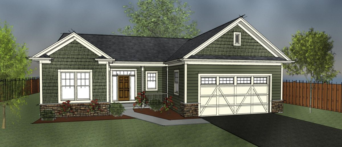 Patio home plan with two suites downsize with universal for Downsize home plans
